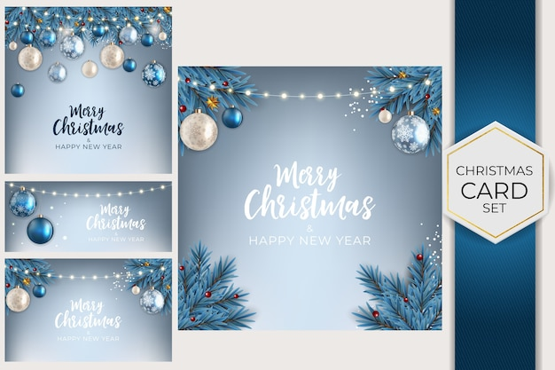Holiday new year and merry christmas background collection