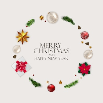 Holiday new year and merry christmas background. vector illustration