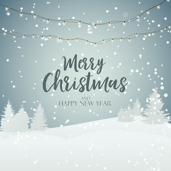 Holiday new year and merry christmas background