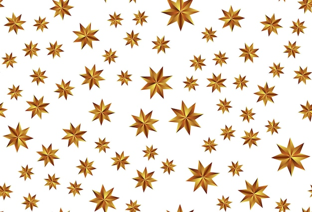 Holiday new year and merry christmas seamless pattern background with golden stars