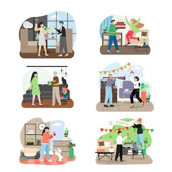 Holiday party celebration set