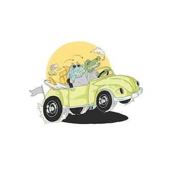 Holiday road illustration design