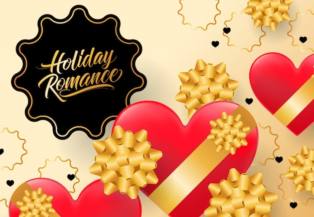 Holiday romance lettering