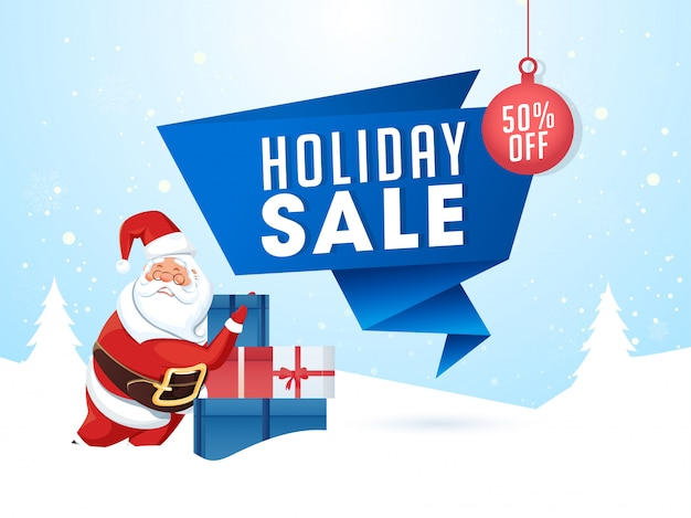 Holiday sale banner.