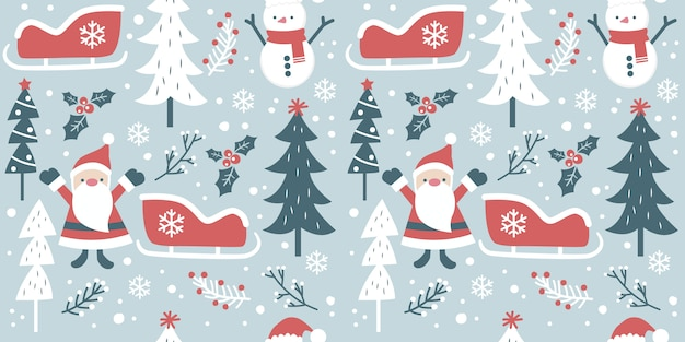 Holiday season seamless pattern for decoration