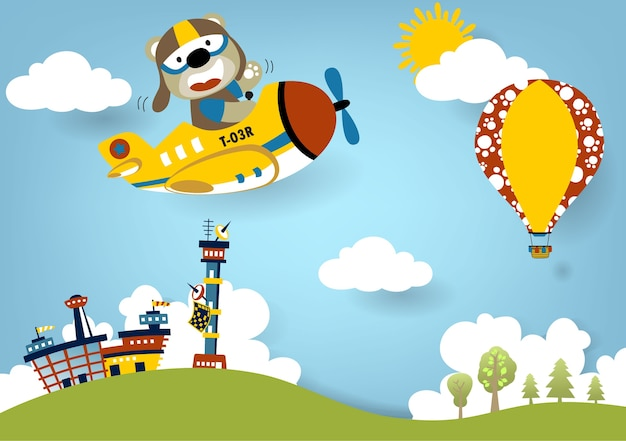 Holiday in the sky, cartoon