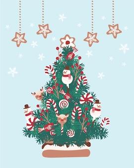 Праздник сладкая елка для открыток медиа ткань льняной текстиль и обои