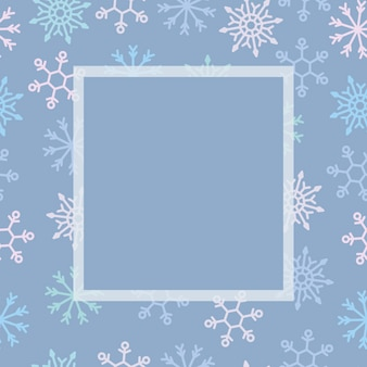 Holiday template snowflake frame.