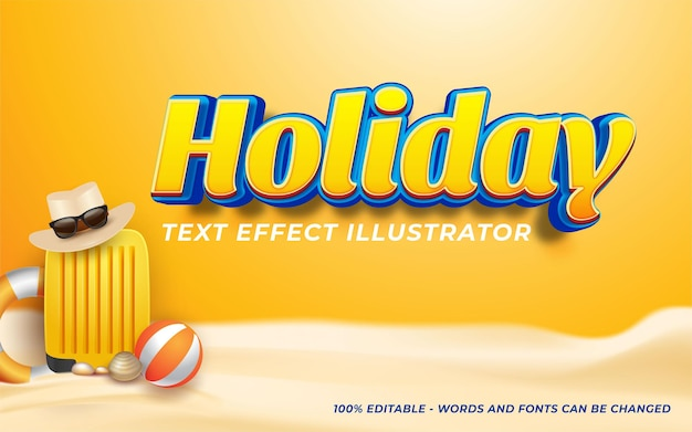 Holiday text effect, editable 3d text style