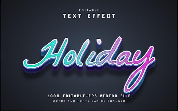 Редактируемый текстовый эффект праздника