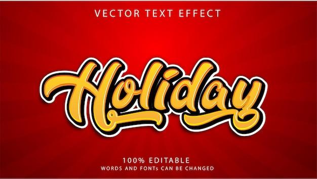 Шаблон стиля праздничных текстовых эффектов