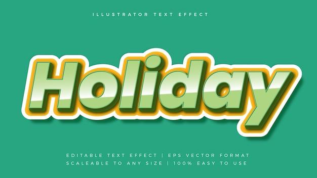 Эффект шрифта стиля текста праздничной темы