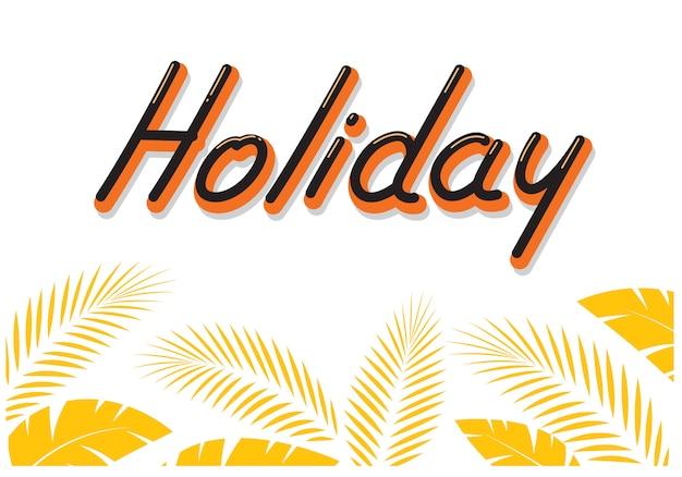 Holiday typography comics style