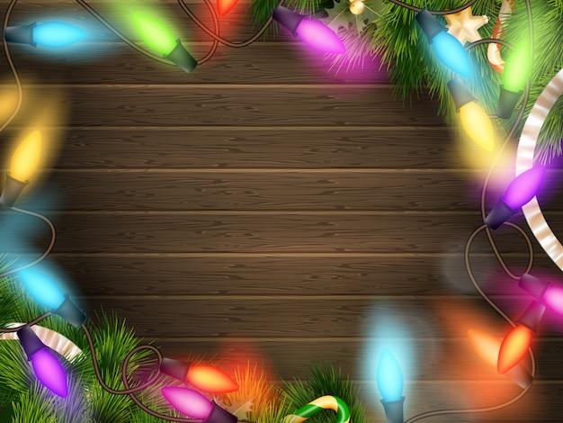 Предпосылка праздников с декором рождества.