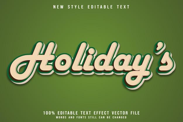 Праздничный редактируемый текстовый эффект с тиснением в винтажном стиле