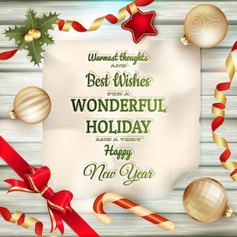 Holidays greeting and christmas card.