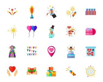 Holidays icon set