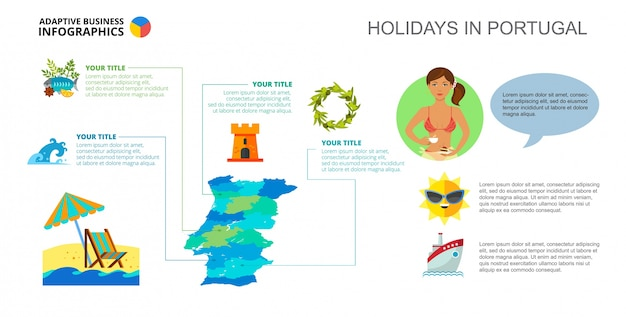 Holidays in portugal slide template