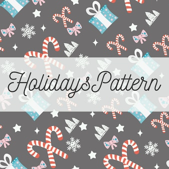 Holidays seamless pattern
