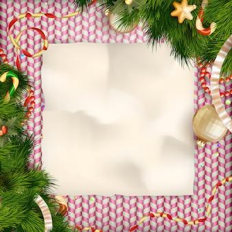 Приветствие сладостей праздников и рождественская открытка.