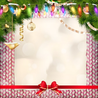 クリスマスに挨拶する休日のお菓子。