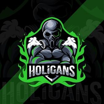 Holigansマスコットロゴeスポーツデザイン