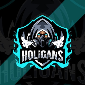 Holigans mascot logo esport design