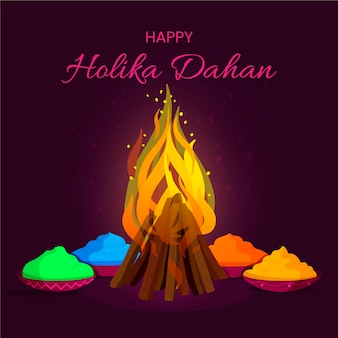 Holika dahan illustration