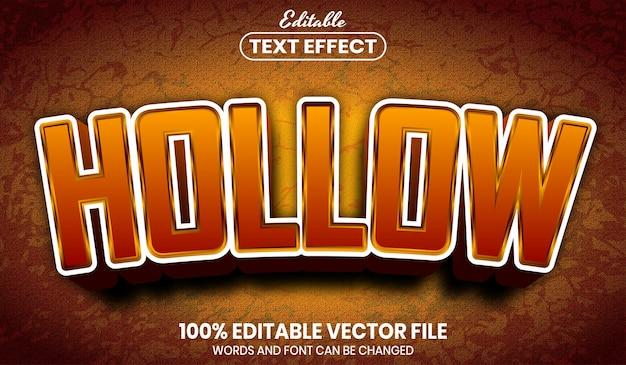 Hollow text, editable text effect