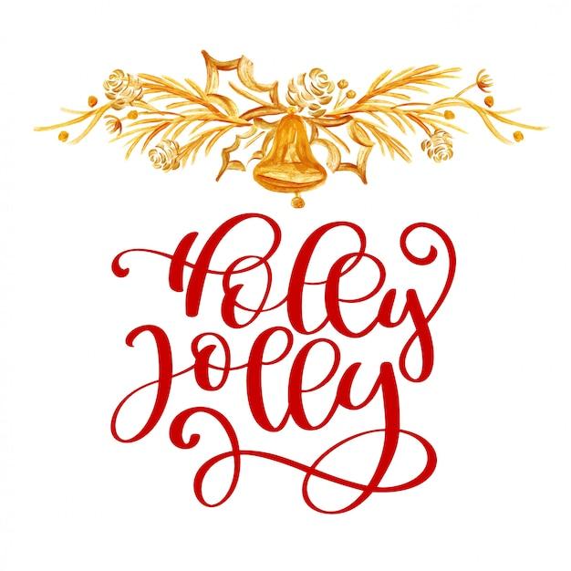 Holly jolly christmas illustration