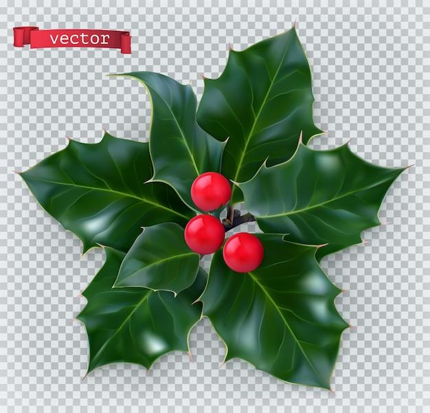 홀리 전통적인 크리스마스 장식.