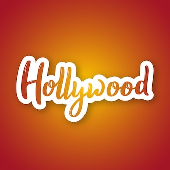 Hollywood  hand drawn lettering name