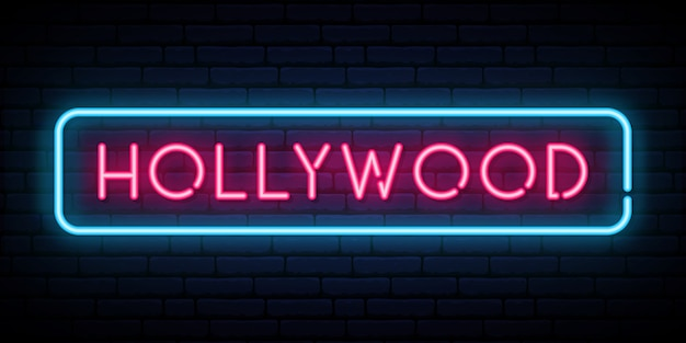 Hollywood neon sign.