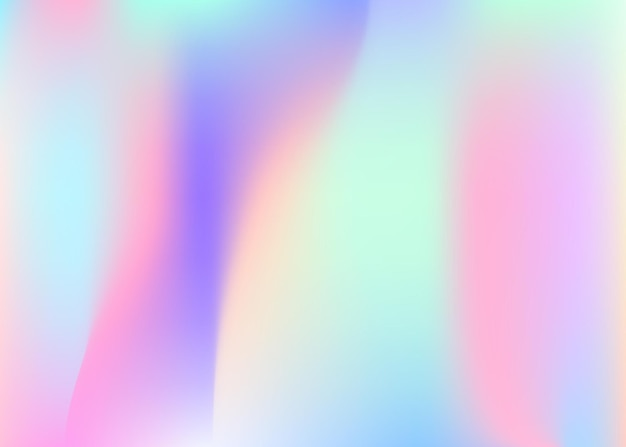 Hologram abstract background. liquid gradient mesh backdrop with hologram. 90s, 80s retro style. iridescent graphic template for book, annual, mobile interface, web app.