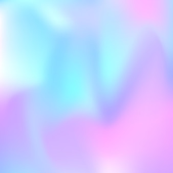 Hologram abstract background. multicolor gradient mesh backdrop with hologram. 90s, 80s retro style. iridescent graphic template for banner, flyer, cover design, mobile interface, web app.