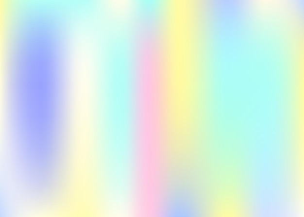 Hologram abstract background. neon gradient mesh backdrop with hologram. 90s, 80s retro style. pearlescent graphic template for banner, flyer, cover design, mobile interface, web app.
