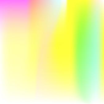 홀로그램 추상적인 배경입니다. 홀로그램이 있는 플라스틱 그라디언트 메쉬 배경입니다. 90년대, 80년대 레트로 스타일. 브로셔, 전단지, 포스터 디자인, 벽지, 모바일 화면에 대한 무지개 빛깔의 그래픽 템플릿.
