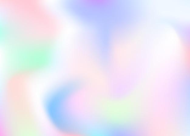 홀로그램 추상적인 배경입니다. 홀로그램이 있는 스펙트럼 그라디언트 메쉬 배경. 90년대, 80년대 레트로 스타일. 책, 연간, 모바일 인터페이스, 웹 앱용 무지개 빛깔의 그래픽 템플릿.