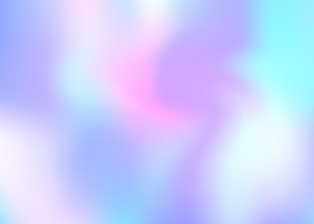Hologram abstract background. stylish gradient mesh backdrop with hologram. 90s, 80s retro style. pearlescent graphic template for banner, flyer, cover design, mobile interface, web app.