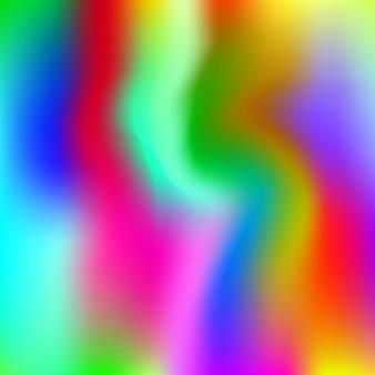 홀로그램 추상적인 배경입니다. 홀로그램이 있는 트렌디한 그라디언트 메쉬 배경입니다. 90년대, 80년대 레트로 스타일. 브로셔, 전단지, 포스터 디자인, 벽지, 모바일 화면을 위한 진주빛 그래픽 템플릿.
