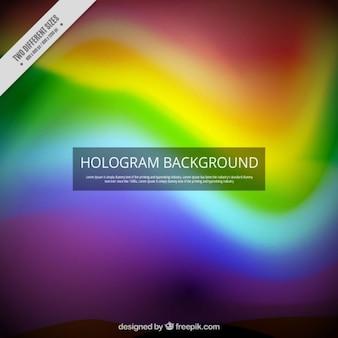 虹色のホログラム背景
