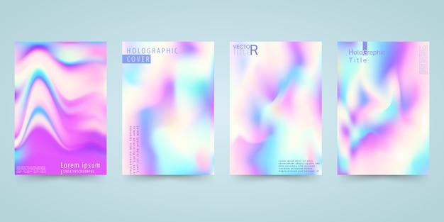 Hologram bright colorful background set