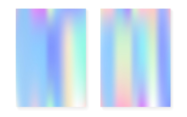 Hologram gradient background set with holographic cover