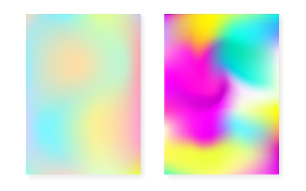Hologram gradient background set with holographic cover.