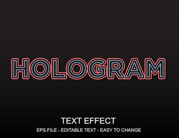 Эффект голограммы
