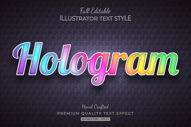 Голограмма стиль текста эффект премиум