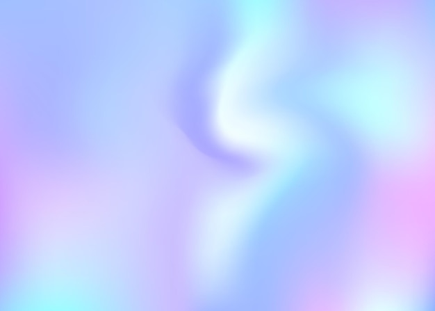 홀로그램 추상적인 배경입니다. 그라디언트 메쉬가 있는 다채로운 홀로그램 배경입니다. 90년대, 80년대 레트로 스타일. 책, 연간, 모바일 인터페이스, 웹 앱용 진주빛 그래픽 템플릿.