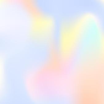 홀로그램 추상적인 배경입니다. 그라디언트 메쉬가 있는 여러 가지 빛깔의 홀로그램 배경입니다. 90년대, 80년대 레트로 스타일. 배너, 전단지, 표지 디자인, 모바일 인터페이스, 웹 앱을 위한 진주빛 그래픽 템플릿.