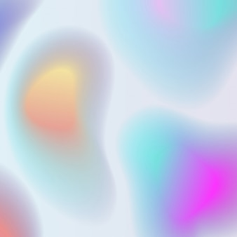 Holographic abstract background in pastel colors, fluid shapes