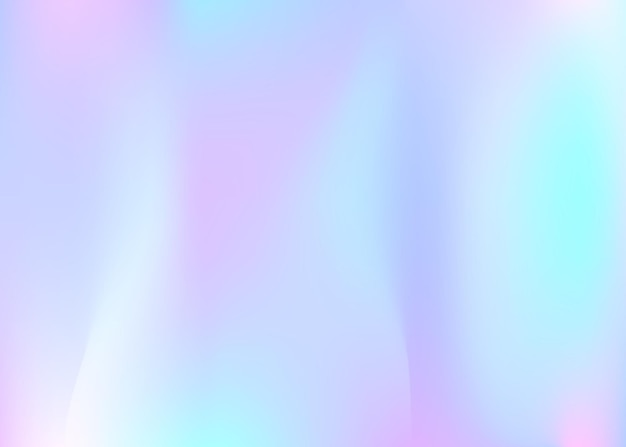 Holographic abstract background. trendy holographic backdrop with gradient mesh. 90s, 80s retro style. pearlescent graphic template for banner, flyer, cover design, mobile interface, web app.